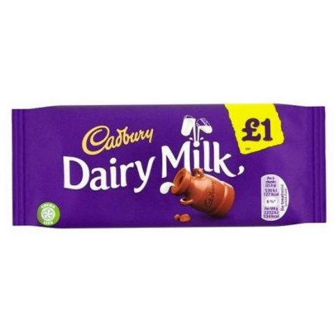 Dairy Milk Chocolate Bar Cadbury 95g